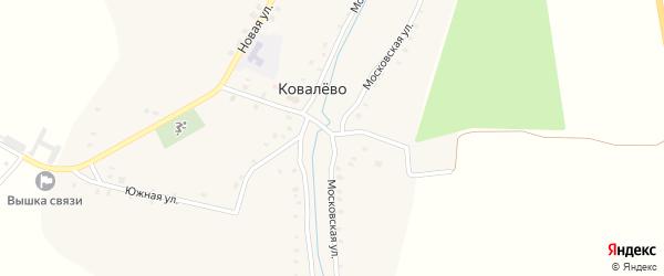 Московская улица на карте села Ковалево с номерами домов