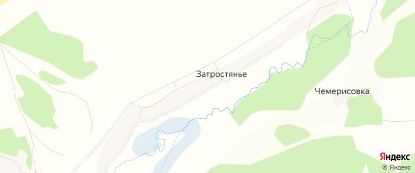 Карта поселка Затростянья в Брянской области с улицами и номерами домов