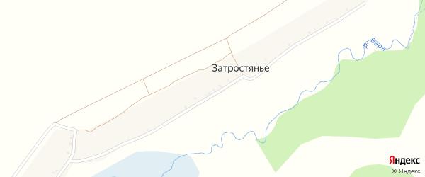 Затростянская улица на карте поселка Затростянья с номерами домов