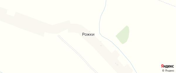 Полевая улица на карте деревни Рожков с номерами домов