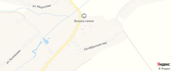 Октябрьский переулок на карте села Борщово с номерами домов