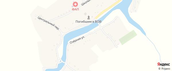 Озерная улица на карте деревни Строительной Слободы с номерами домов