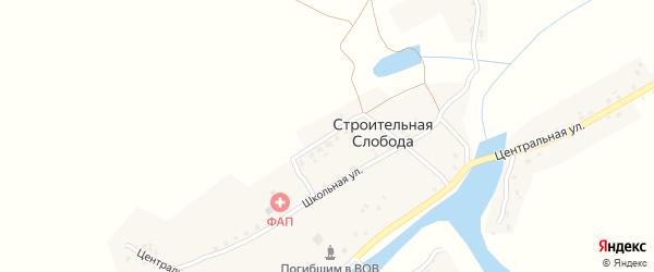 Садовая улица на карте деревни Строительной Слободы с номерами домов