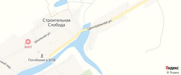Озерный переулок на карте деревни Строительной Слободы с номерами домов