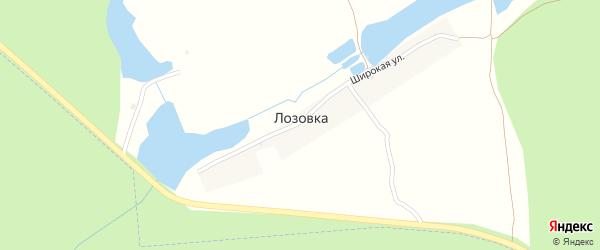 Широкая улица на карте деревни Лозовки с номерами домов