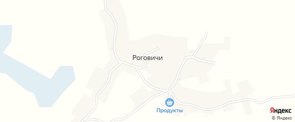 Озерная улица на карте хутора Роговичи с номерами домов