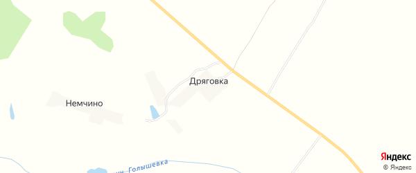 Карта поселка Дряговки в Брянской области с улицами и номерами домов