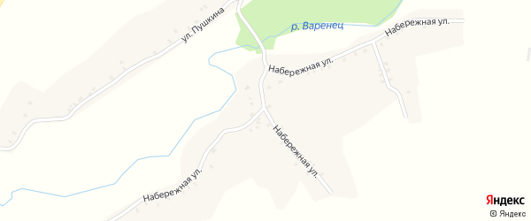 Набережная улица на карте села Лобки с номерами домов