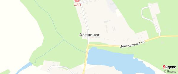 Лесная улица на карте деревни Алешинки с номерами домов