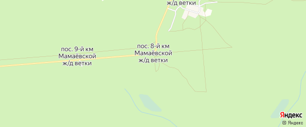 Карта поселка 8-й км Мамаевской ж/д Ветки в Брянской области с улицами и номерами домов