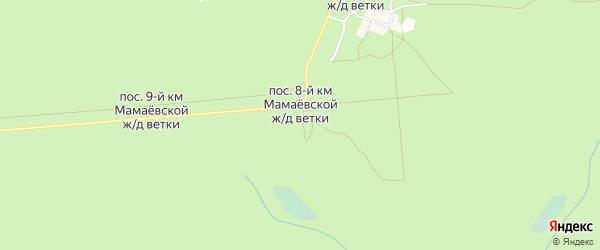 Карта поселка 9-й км Мамаевской ж/д Ветки в Брянской области с улицами и номерами домов