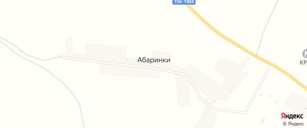Шняковская улица на карте деревни Абаринки с номерами домов