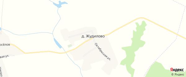 Карта деревни Жудилово в Брянской области с улицами и номерами домов