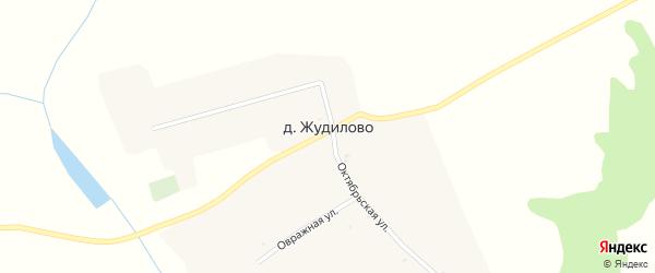Овражная улица на карте деревни Жудилово с номерами домов