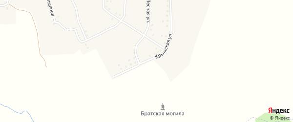 Крымская улица на карте деревни Алня с номерами домов