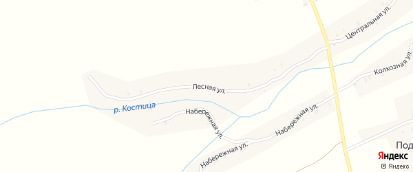 Лесная улица на карте села Подбелово с номерами домов