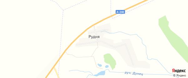 Карта деревни Рудни в Брянской области с улицами и номерами домов