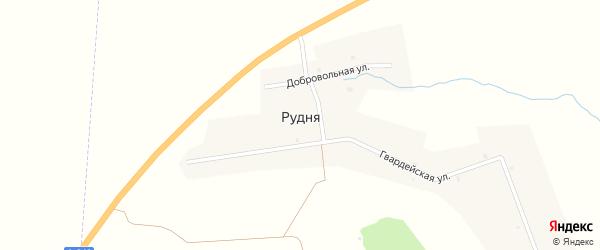 Руднянская улица на карте деревни Рудни с номерами домов