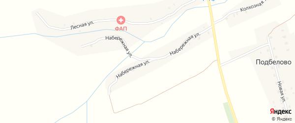 Набережная улица на карте села Подбелово с номерами домов