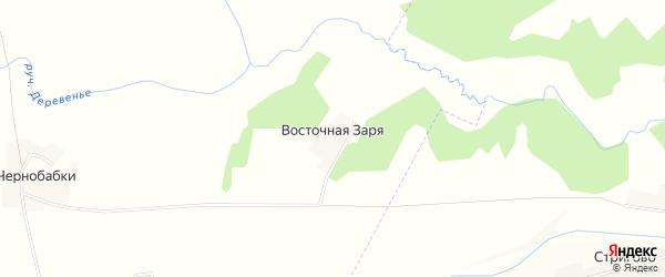 Карта поселка Восточной Зари в Брянской области с улицами и номерами домов