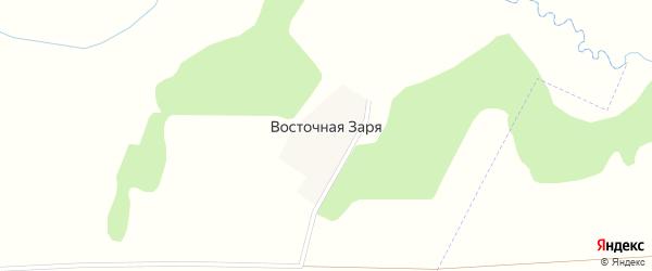 Улица Восточная Заря на карте поселка Восточной Зари с номерами домов