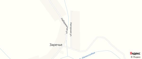 Нагорная улица на карте деревни Заречья с номерами домов