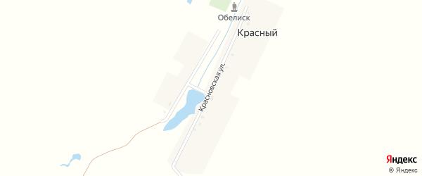 Красновская улица на карте Красного поселка с номерами домов