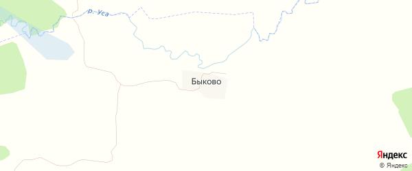 Карта деревни Быково в Брянской области с улицами и номерами домов