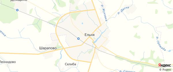 Карта Ельни с районами, улицами и номерами домов: Ельня на карте России