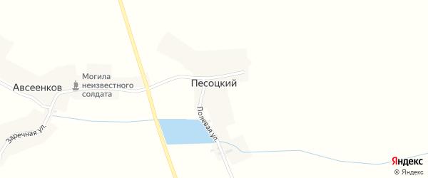 Полевая улица на карте Песоцкого хутора с номерами домов