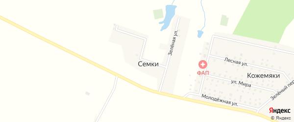 Зеленая улица на карте поселка Семки с номерами домов
