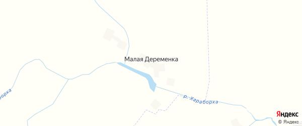 Карта деревни Малой Деременки в Брянской области с улицами и номерами домов