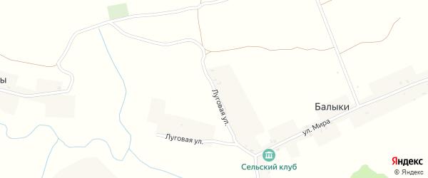 Луговая улица на карте села Балыки с номерами домов