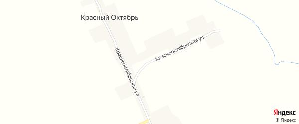 Краснооктябрьская улица на карте поселка Красного Октября с номерами домов