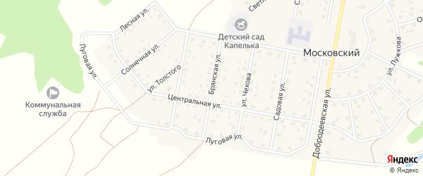 Брянская улица на карте Московского поселка с номерами домов