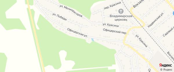 Офицерская улица на карте поселка Клетня с номерами домов