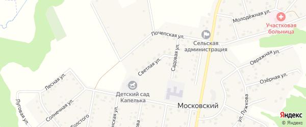 Светлая улица на карте Московского поселка с номерами домов