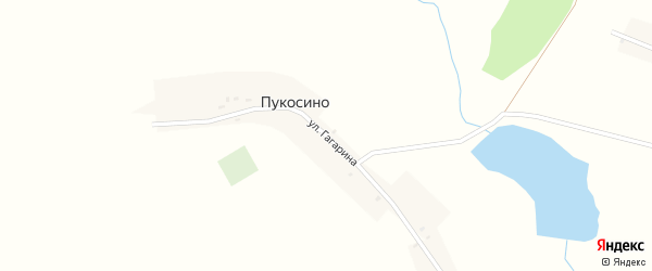 Улица Гагарина на карте деревни Пукосино с номерами домов