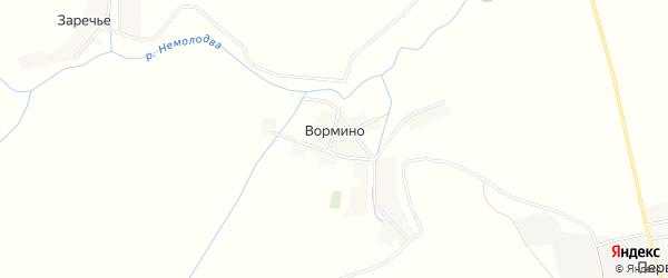 Карта деревни Вормино в Брянской области с улицами и номерами домов