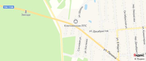 Белорусская улица на карте поселка Клетня с номерами домов