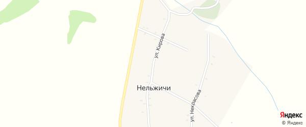 Улица Кирова на карте деревни Нельжичи с номерами домов