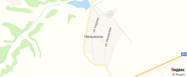 Карта деревни Нельжичи в Брянской области с улицами и номерами домов