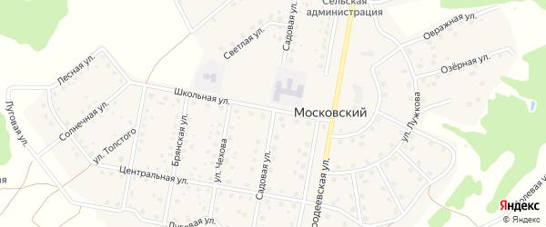 Садовая улица на карте Московского поселка с номерами домов