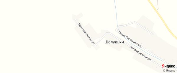 Комсомольская улица на карте деревни Шелудьки с номерами домов