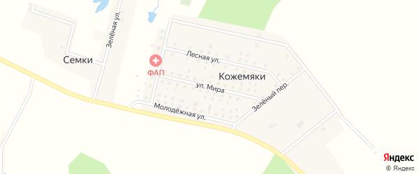 Улица Мира на карте деревни Кожемяки с номерами домов