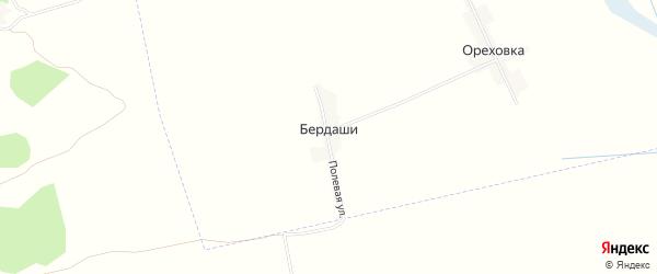 Карта поселка Бердаши в Брянской области с улицами и номерами домов