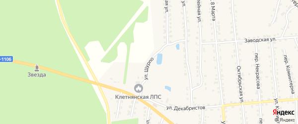 Улица Шурпо на карте поселка Клетня с номерами домов