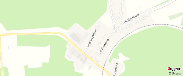 Переулок Баумана на карте поселка Клетня с номерами домов