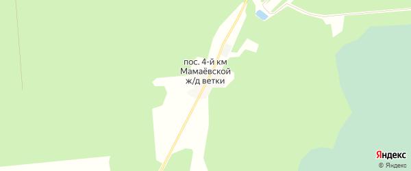 Карта поселка 4-й км Мамаевской ж/д Ветки в Брянской области с улицами и номерами домов
