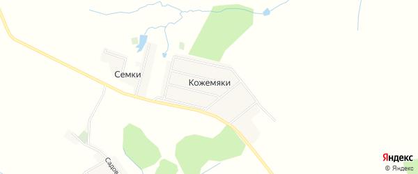 Карта деревни Кожемяки в Брянской области с улицами и номерами домов